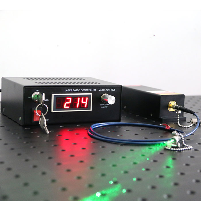 532nm 300mW Green Fiber Coupled Raman Laser 0.1nm Narrow Linewidth Raman Spectroscopy System